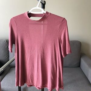 mock neck tshirt